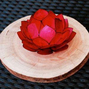 Magenta Lotus Tea Light Candle Holders
