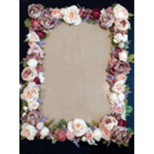 1m x 50cm Floral Frame with Hessian Background