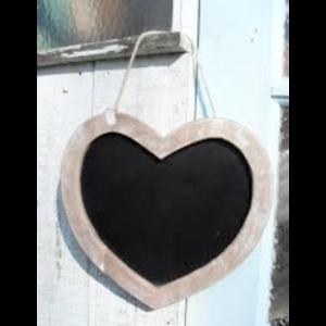 Vintage Heart Shaped Chalk Board